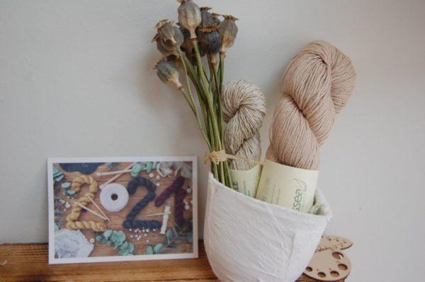 Natissea fibres végétales. Trico'Thé Box du mois d'Août.