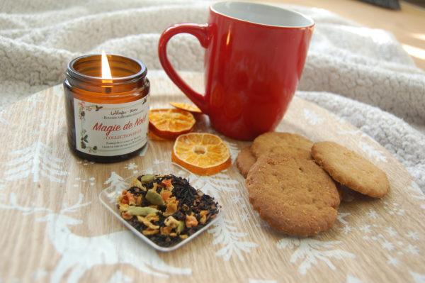 Thé et biscuits de la box de décembre. Made in France
