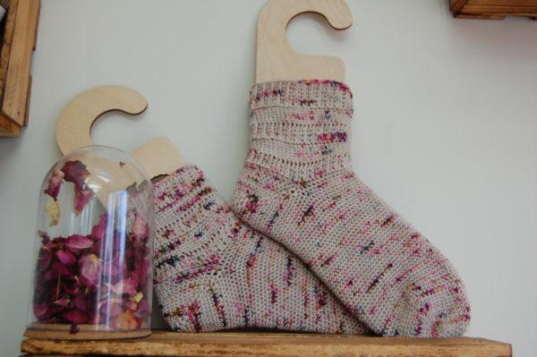 Chaussettes au crochet. Du fil à Retordre. Made in France